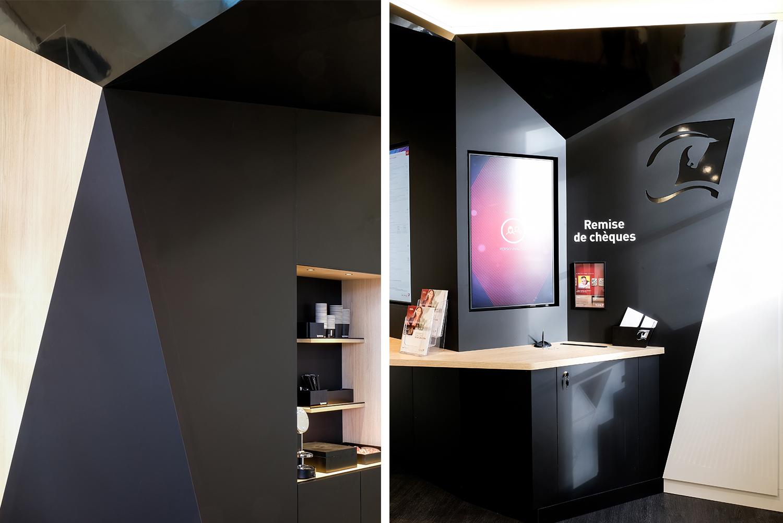 espace digitalisé en banque