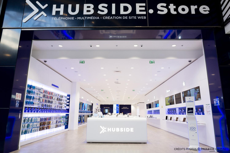 déploiement du concept d'aménagement de la boutique de mutlimédia et de téléphonie Hubside