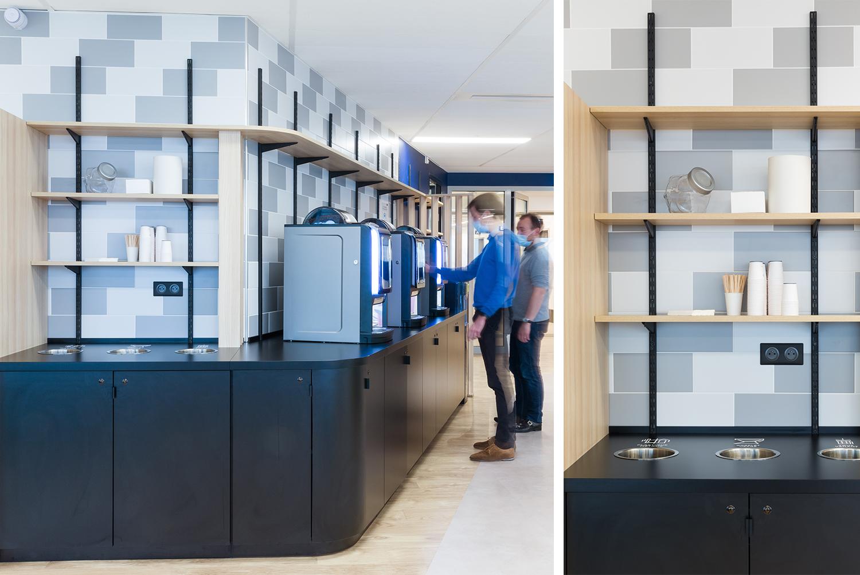 aménagement de la cafeteria d'une entreprise