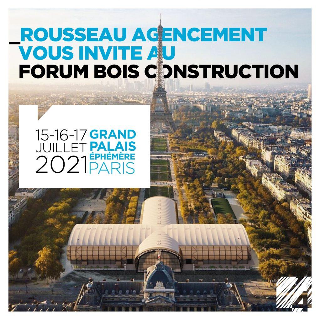 Rousseau agencement au forum bois construction : mobilier en économie-circulaire